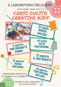 Clusone - Cucito creativo per bambini e ragazzi @ Il Laboratorio delle Idee a Clusone