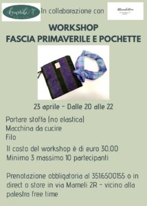 Workshop fascia primaverile e pochette @ Komorebi