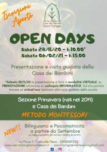 Open day Casa dei Bambini @ Online e Casa dei Bambini