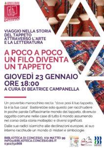 A poco a poco un filo diventa un tappeto @ Biblioteca di Concesio | Concesio | Lombardia | Italia