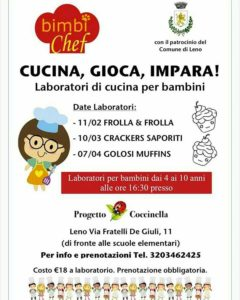 Cucina, gioca e impara @ Progetto Coccinella
