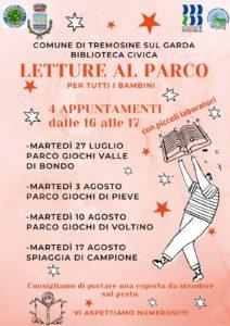 Tremosine - Letture al parco  con la biblioteca @ Biblioteca Tremosine | Pieve | Lombardia | Italia