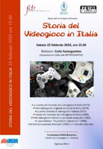 Storia del videogioco @ Fondazione Civiltà Bresciana Onlus