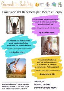 Prontuario del Benessere per Mente e Corpo @ online - piattaforma Meet | Salò | Lombardia | Italia
