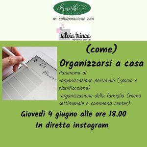 (come) organizzarsi a casa @ Komorebi - ONLINE