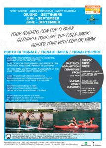 Tour guidato con sup o kayak @ ritrovo al porto di Tignale