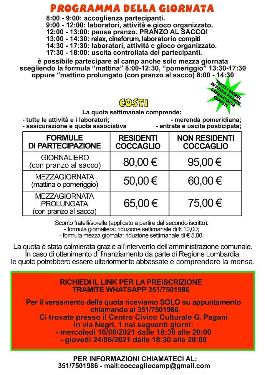 coccaglio-sport-camo-2021-programma