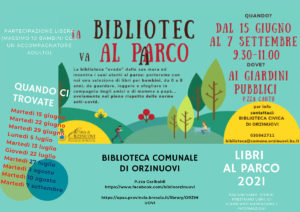La biblioteca va al parco a Orzinuovi @ Giardini Pubblici di Orzinuovi