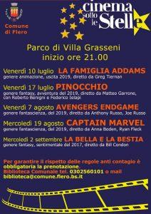 Cinema sotto le stelle a Flero @ parco di Villa Grasseni