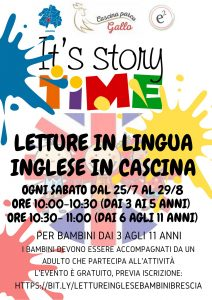 It's story Time! Letture per bambini in inglese in Cascina @ Cascina Parco Gallo