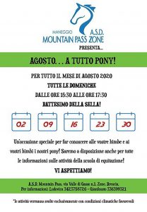 A tutto pony a Zone @ maneggio Mountain Pass Zone