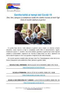 Genitorialità ai tempi del Covid @ online - piattaforma Meet