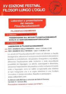 Laboratori di filosofia dei bambini @ Biblioteca comunale del Bailo di Sarezzo