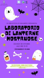 Gavardo - Laboratorio creativo a tema Halloween in biblioteca @ Biblioteca Gavardo | Gavardo | Lombardia | Italia