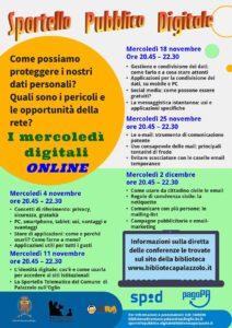 Mercoledì digitali online @ online