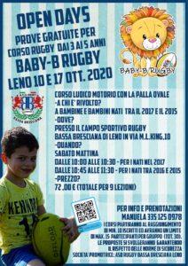 Open Day Baby B Rugby @ campo sportivo rugby bassa bresciana