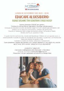 Educare al desiderio @ online