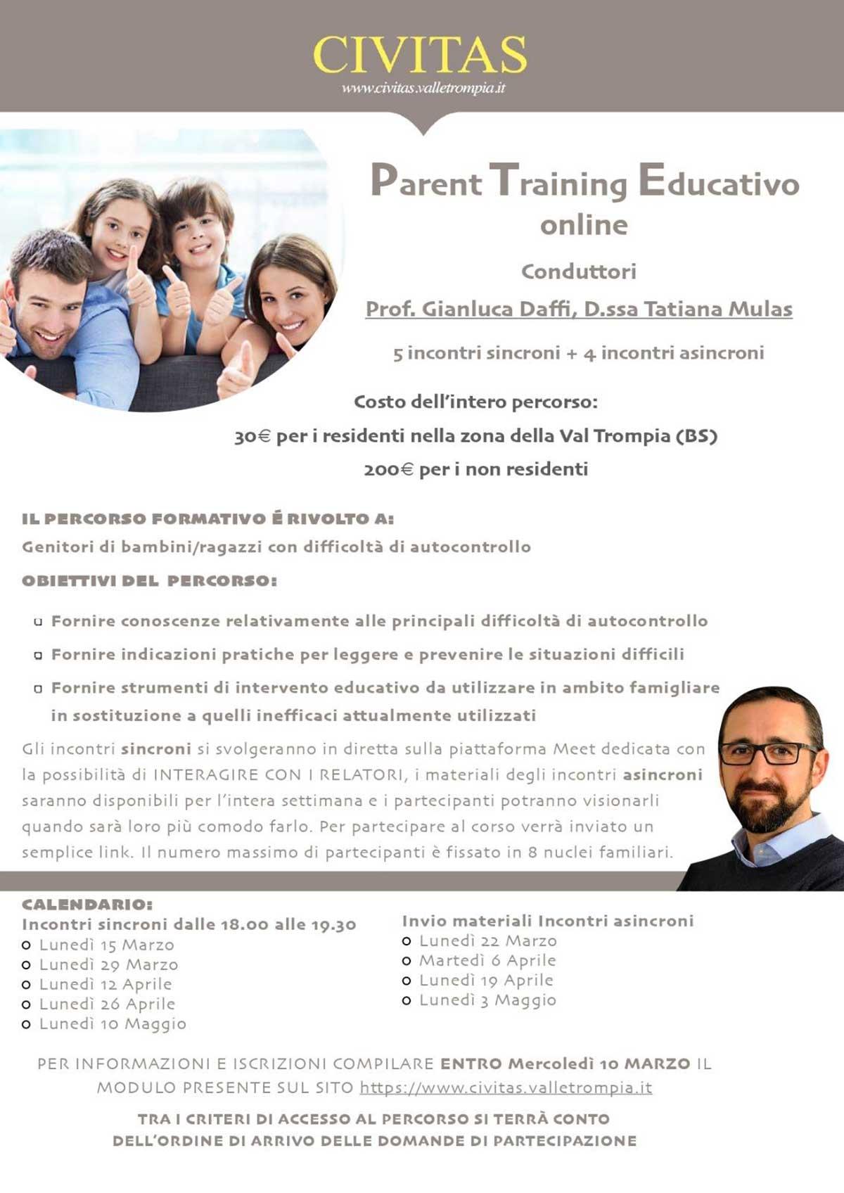parent training educativo per genitori