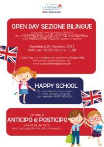 Open day sezione bilingue Asilo La Vittoria @ online - piattaforma Meet | Adro | Lombardia | Italia