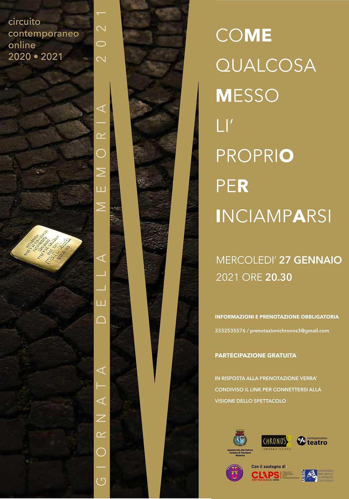 Giornata della memoria spettacolo online a Toscolano