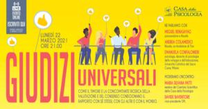 Giudizi universali @ Online su piattaforma GoToWebinar