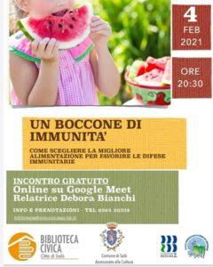 Alimentazione sana: un boccone di immunità @ online - piattaforma Meet