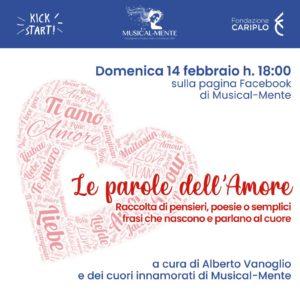 Le parole dell'amore @ in diretta sulla pagina Facebook di Musical-Mente