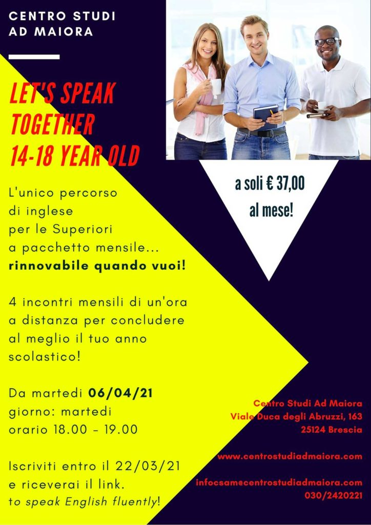 let's speak together AdMaiora