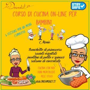 Corso di cucina online per bambini @ online - piattaforma Zoom