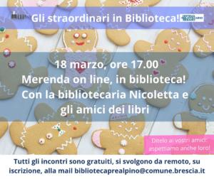 Merenda online in biblioteca @ online
