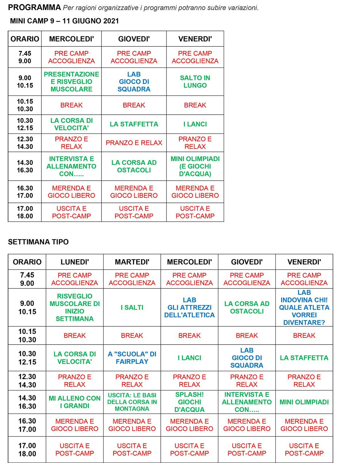 Programma-settimanale-Cus-Camp-atletica