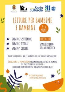 Palazzolo - Letture per bambini all'aria aperta con la biblioteca @ Biblioteca Civica G.U. Lanfranchi -   Palazzolo sull'Oglio   BS   Italia