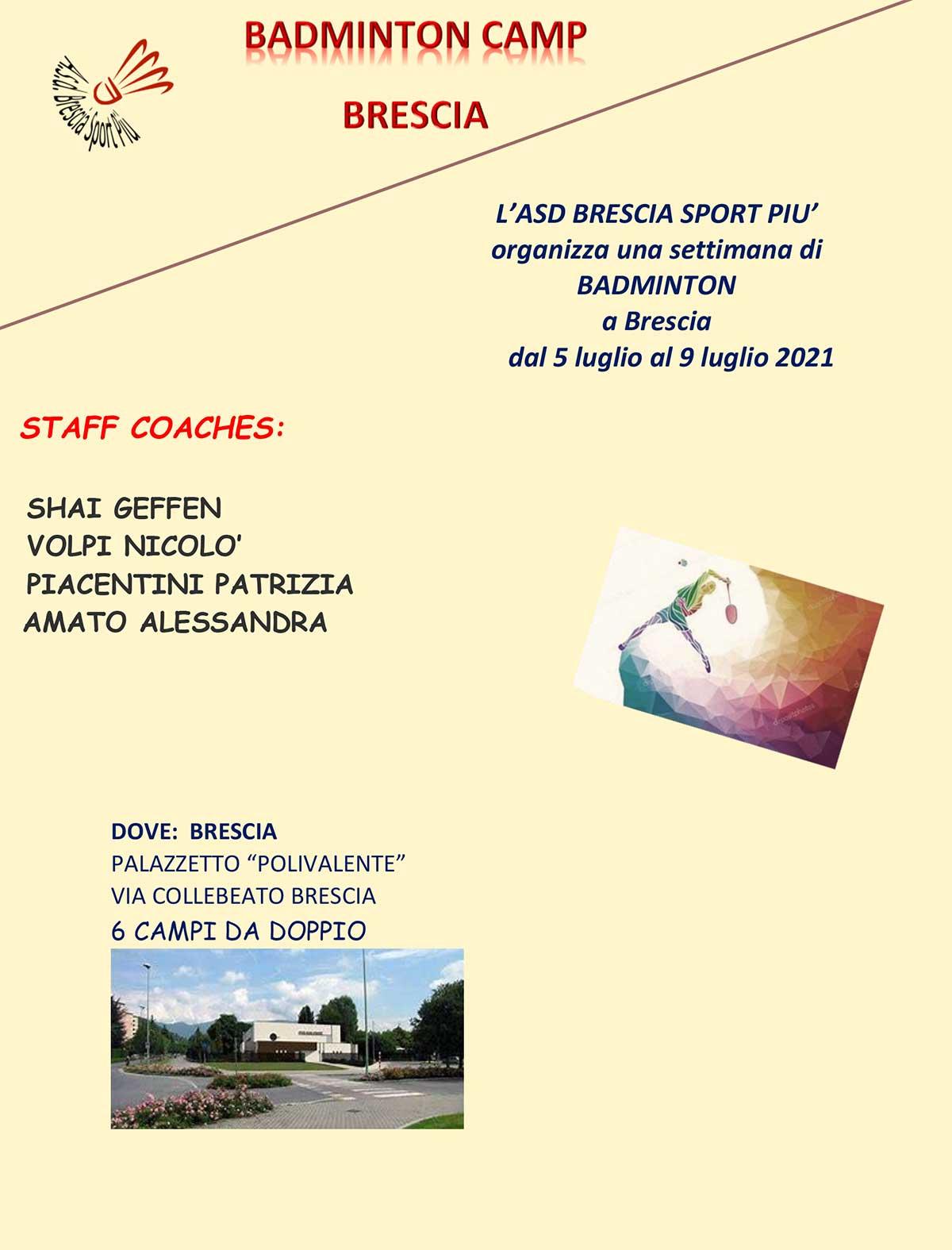 Badminton summer camp a Brescia estate 2021