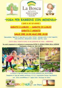 Yoga per bambini con merenda - Gavardo @ La Bosca Agriturismo | Bedizzole | Lombardia | Italia