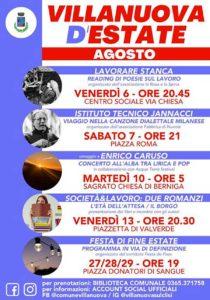 Appuntamenti estivi a Villanuova - cinema e spettacoli @ Oratorio San Luigi Gonzaga | Villanuova Sul Clisi | Lombardia | Italia