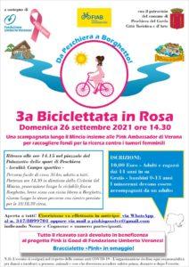 3a Biciclettata in Rosa - da Peschiera del Garda a Borghetto sul Mincio @ Palazzetto dello sport Peschiera del Garda