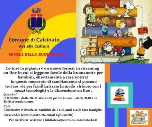 Calcinato - Letture per bambini in pigiama @ online con la biblioteca